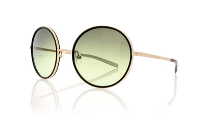 Götti Pinou GLBB Gold Brushed Black Ring Sunglasses at OCO