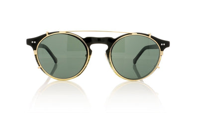 Hadid Eyewear Captain HAD08 C2 Horn & Black Sunglasses at OCO