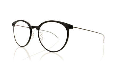 Lindberg n.o.w. titanium 6537 06/U9 Shiny Black Transparent Glasses at OCO
