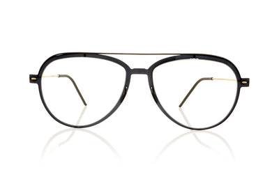 Lindberg n.o.w titanium 6547 C06-PU9-T802-PGT Polished Black Glasses at OCO