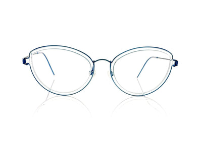 Lindberg Air titanium rim Katrine 20-K116 Blue Rim Glasses at OCO