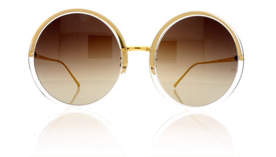 Linda Farrow LFL457 C3 Clear Sunglasses at OCO