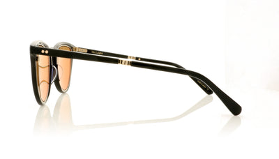 Mr. Leight Runyon SL BK-12KWG/24KG Black-12K White Gold Sunglasses