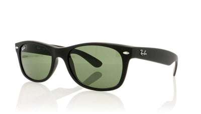 Ray-Ban New Wayfarer 622 Black Rubber Sunglasses at OCO