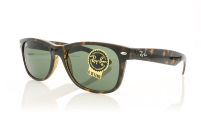 Ray-Ban New Wayfarer RB2132 902L Tortoise Sunglasses at OCO