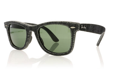 Ray-Ban Wayfarer RB2140 1162 Jeans Black Sunglasses at OCO