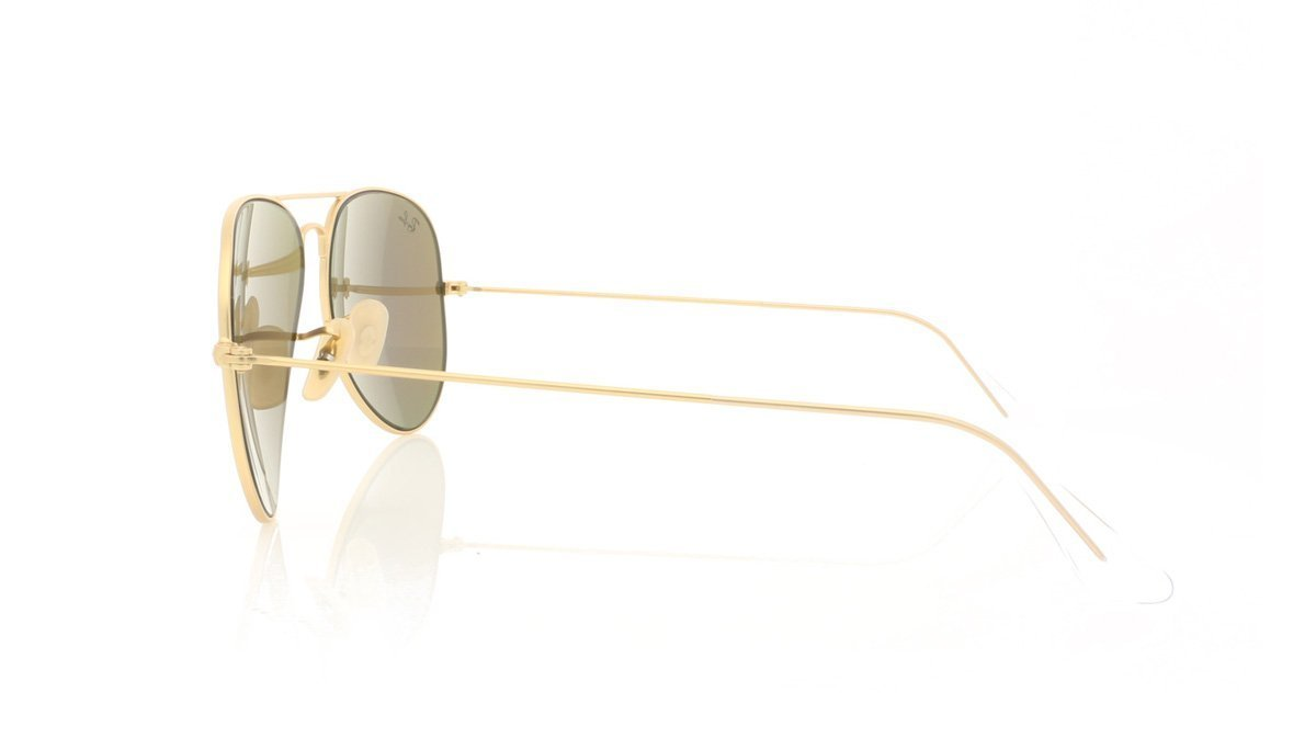 Ray-Ban Aviator Large Metal RB3025 112 19 Mat Gold Sunglasses at OCO d633c5a25e