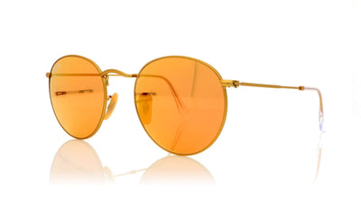 Ray-Ban Round Metal 112/Z2 Matte Gold Sunglasses at OCO
