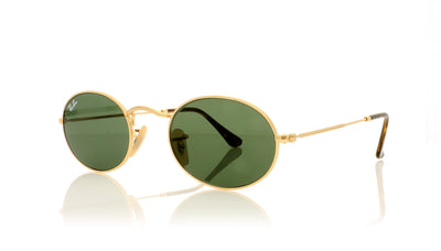 Ray-Ban Oval RB3547N 001 Gold Sunglasses