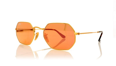 Ray-Ban Octagonal 0RB3556N 001/Z2 Gold Sunglasses