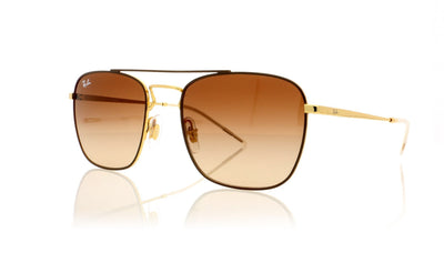 Ray-Ban RB3588 0RB3588 905513 Gold Top On Brown Sunglasses at OCO