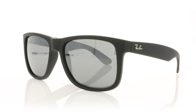 Ray-Ban Justin RB4165 622/6G Rubber Black Sunglasses at OCO