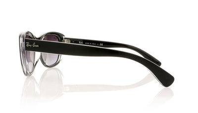Ray-Ban RB4227 60528G Tp Mt Black On Transp Sunglasses at OCO