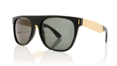 RETROSUPERFUTURE Flat top Francis NIM Black Sunglasses at OCO