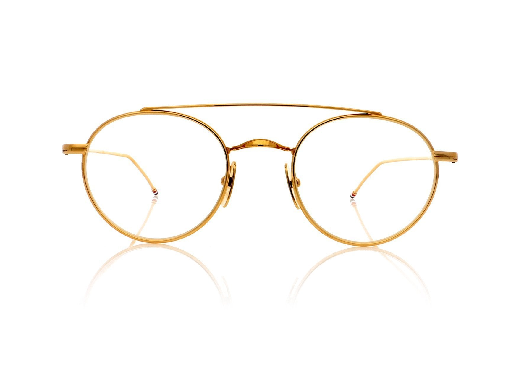 150396381411 Thom Browne TB-101 B Gold Glasses at OCO