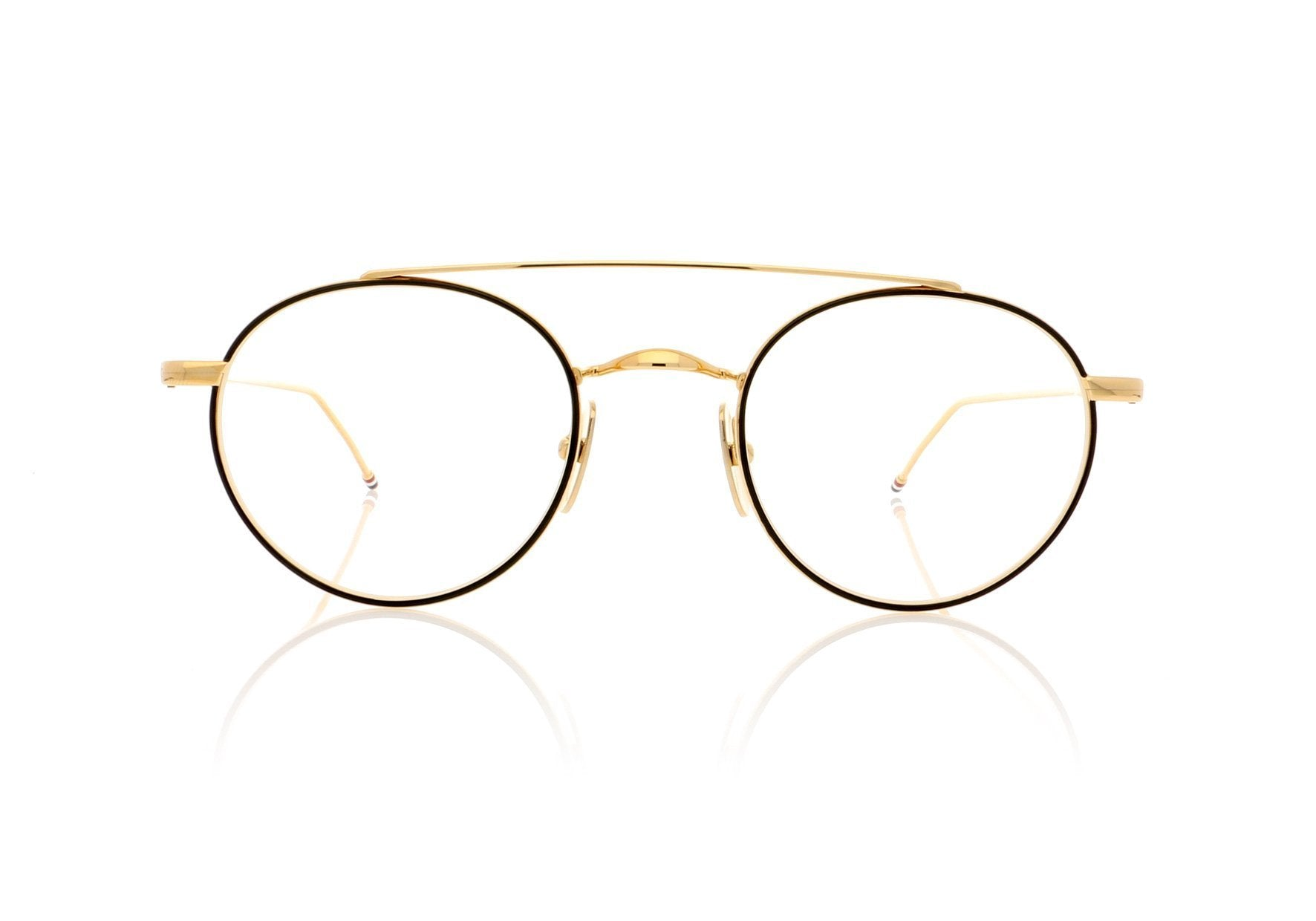 a2fc912c07fb Thom Browne TB-101 D-BLK-GLD Black Iron Glasses at OCO