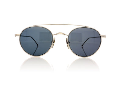 Thom Browne TB-101S A-T Shiny Silver Sunglasses at OCO