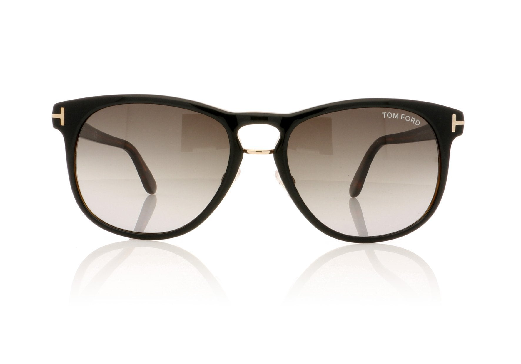 a71044a4290 Tom Ford Franklin TF346 01V Shiny Black Sunglasses at OCO