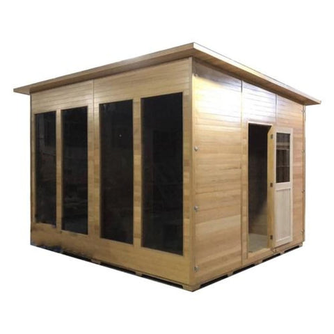 Aleko Canadian Hemlock Outdoor Shed & Studio Home-Cabin and Clubhouse SCRUBYHEM7-AP Aleko Sheds and Storage