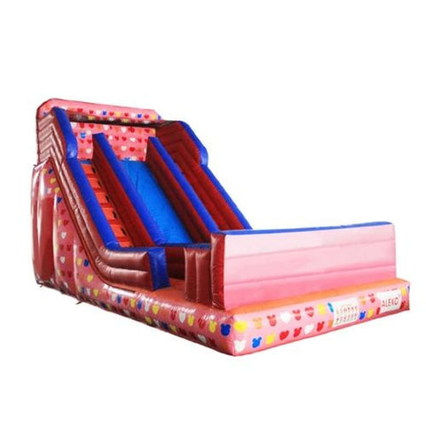 Aleko Commercial Grade Inflatable Bounce House Water Slide with Pool and Blower Pink and Multi-Color Decals BHC010-AP Inflatable Bounce