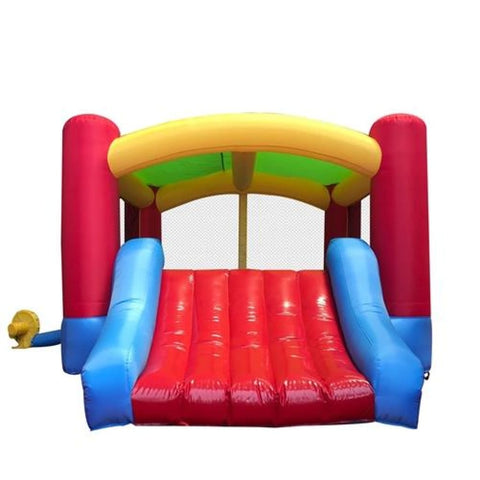Aleko Commercial Grade Inflatable Kids Zone Bounce House with Slide and Blower BHOUSE-AP Inflatable Bounce Houses