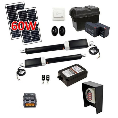 Aleko Dual Swing Gate Operator AS1300U ETL Listed Solar Kit 60W AS1300UFULL-AP Dual Swing Gate Operator