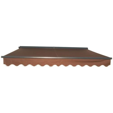 Aleko Half Cassette Motorized Retractable Patio Awning 12 x 10 Feet Brown AWCM12X10BROWN36-AP Half Cassette Motorized Retractable Awnings 12