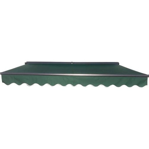Aleko Half Cassette Motorized Retractable Patio Awning 12 x 10 Feet Green AWCM12X10GREEN39-AP Half Cassette Motorized Retractable Awnings 12
