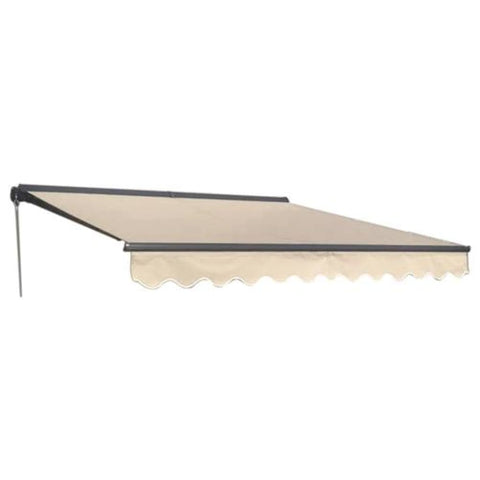Aleko Half Cassette Motorized Retractable Patio Awning 12 x 10 Feet Ivory AWCM12X10IVORY29-AP Half Cassette Motorized Retractable Awnings 12