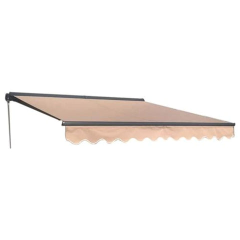 Aleko Half Cassette Motorized Retractable Patio Awning 12 x 10 Feet Sand AWCM12X10SAND31-AP Half Cassette Motorized Retractable Awnings 12 x