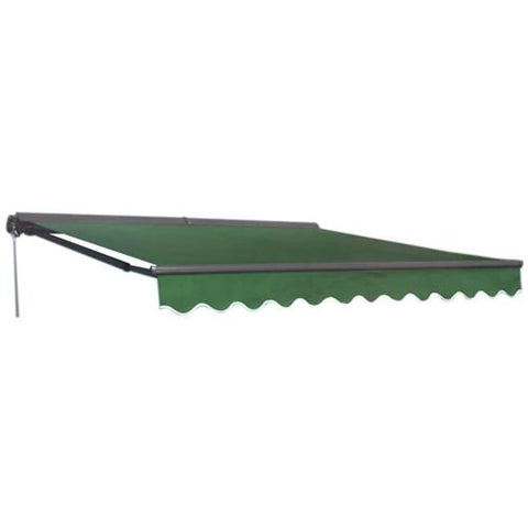 Aleko Half Cassette Retractable Patio Awning 10 x 8 Feet Green AWC10X8GREEN39-AP Half Cassette Retractable Awning 10x8 ft