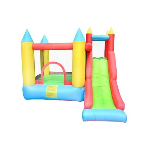 Aleko Indoor/Outdoor Inflatable Bounce House Castle with Slide Multi Color BH0012-AP Inflatable Bounce Houses