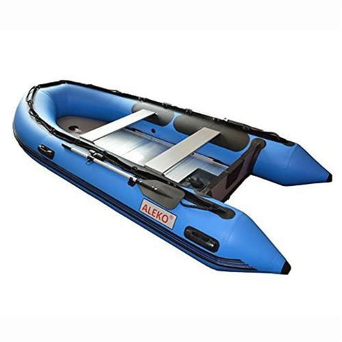 Aleko Inflatable Boat With Aluminum Floor 13.8 Ft Blue Bt420B-Ap Boats With Aluminum Floor 13.8 Ft