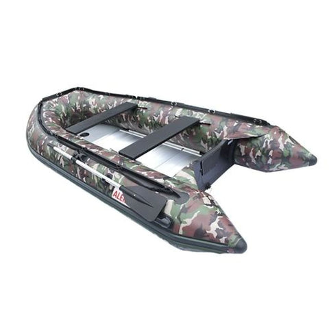 Aleko Inflatable Boat With Aluminum Floor 13.8 Ft Camouflage Style Bt420Cm-Ap Boats With Aluminum Floor 13.8 Ft