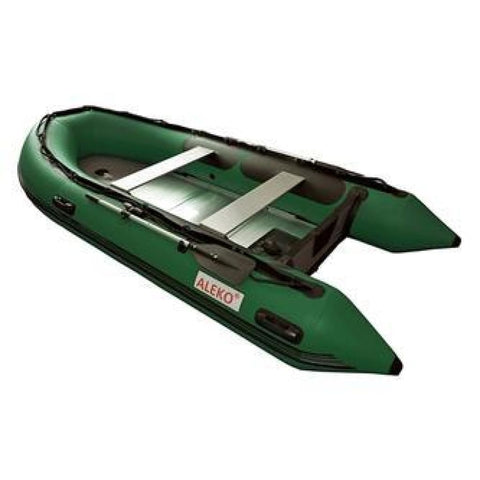 Aleko Inflatable Boat With Aluminum Floor 13.8 Ft Dark Green Bt420Gr-Ap Boats With Aluminum Floor 13.8 Ft