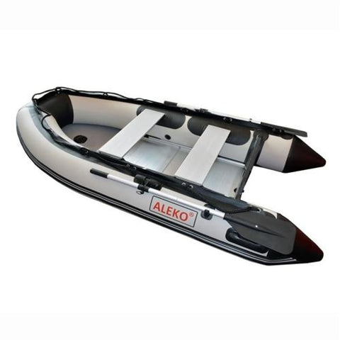 Aleko Inflatable Boat With Aluminum Floor 13.8 Ft Gray Bt420G-Ap Boats With Aluminum Floor 13.8 Ft