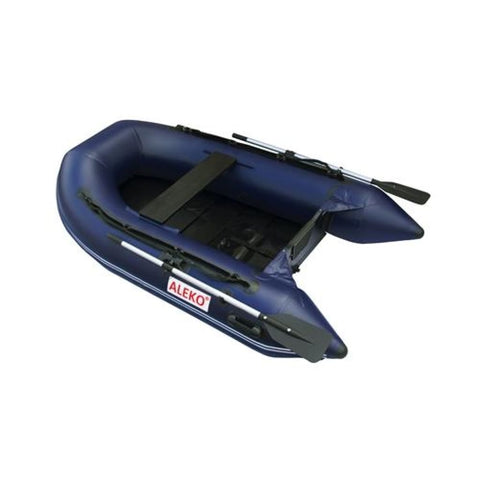 Aleko Inflatable Boat With Pre-Installed Slide Floor 8.4 Ft Blue Btsdsl250B-Ap Boats With Wood Paneled Floor 8.4 Ft