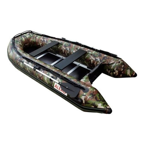 Aleko Inflatable Boat With Wood Floor 10.5 Ft Camouflage Style Btsdwd320Cm-Ap Boats With Wooden Floor 10.5 Ft