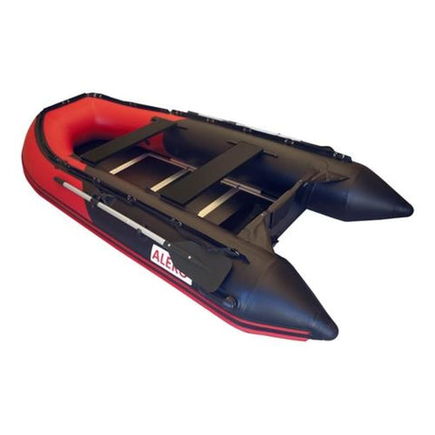 Aleko Inflatable Fishing Boat With Wood Floor 10.5 Ft Red And Black Btsdwd320Rbk-Ap Boats With Wooden Floor 10.5 Ft