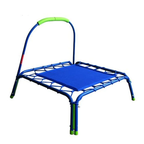 Aleko Mini Square Kids Trampoline with Safety Handle Blue BT32BLUE-AP Fun Zone