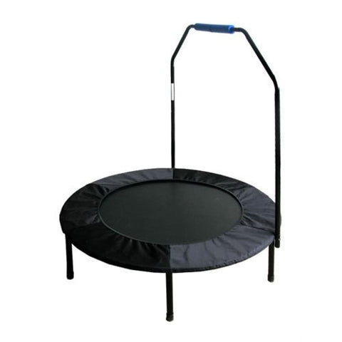 Aleko Mini Trampoline with Stabilizing Handlebars Black with Blue Handelbars BTH40BK-AP Fun Zone