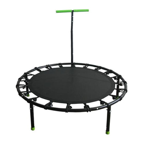 Aleko Mini Trampoline with Stabilizing Handlebars Black with Green Handerbars BTERH40BK-AP Fun Zone