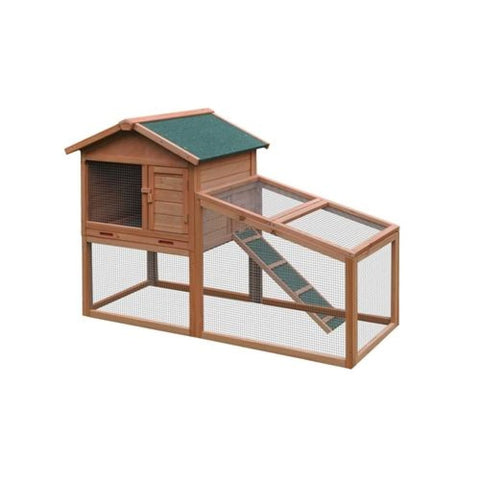 Aleko Multi Level Wooden Chicken Coop or Rabbit Hutch 56.5 x 25.6 x 39.4 Inches ACCRH56X25X39-AP Chicken Coops and Rabbit Hutches