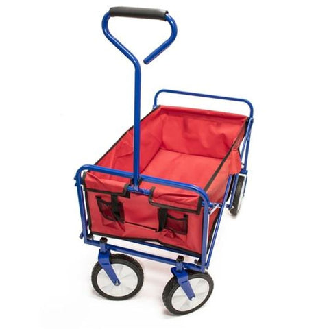 Aleko Multipurpose Folding Utility Wagon With Padded Handle Red TC1011-AP Fun Zone