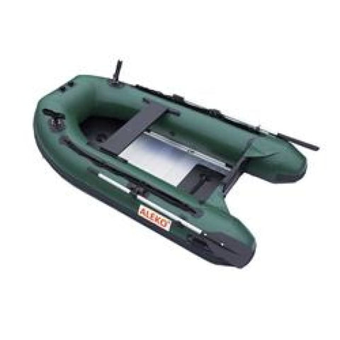 Aleko Pro Fishing Inflatable Boat With Aluminum Floor And Front Board Holders 8.4 Ft Dark Green Btf250Gr-Ap Pro Fishing Boats 8.4 Ft