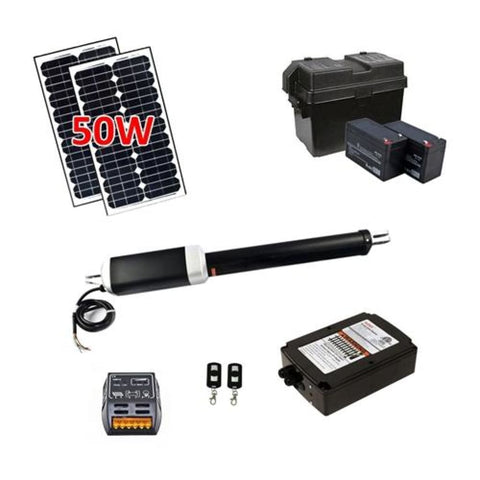 Aleko Single Swing Gate Operator ETL Listed AS650U Solar Kit 50W AS650USOL-AP Single Swing Gate Operator