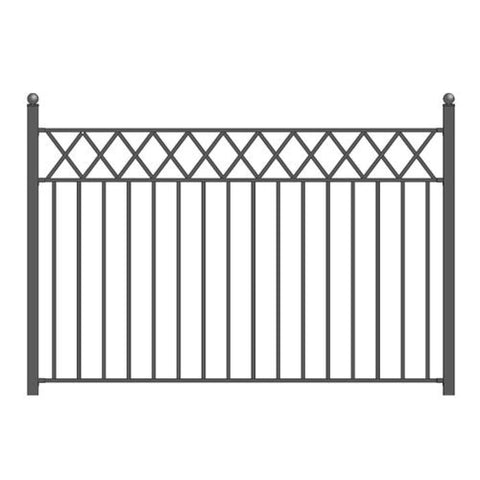 Aleko Steel Fence Stockholm Style 8 X 5 Ft Fencesto-Ap Fence Panels