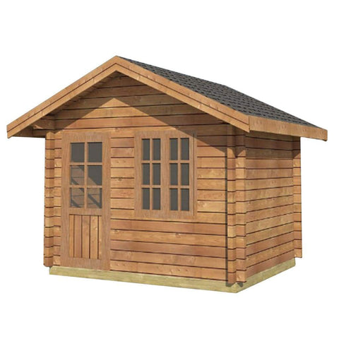 Aleko Wooden DIY Outdoor Studio-Home Cabin and Cottage Space WLCPI01-AP Aleko Cabin and Cottage