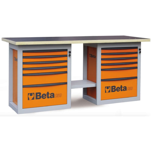 Beta Tools Endurance Workbench 12 Drawers C59B Orange Workbench