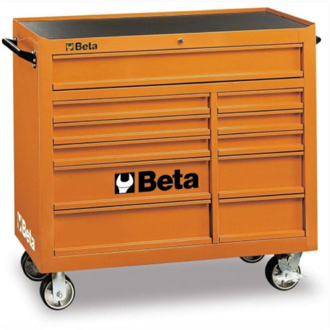 Beta Tools Mobile Roller Cabinet 11 Drawer C38 Orange Roller Cabinet